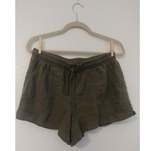 Anthropologie Malini Boho Linen Blend Shorts
